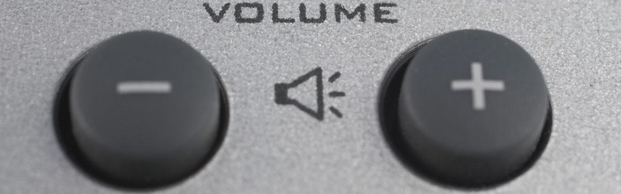 Volume push buttons