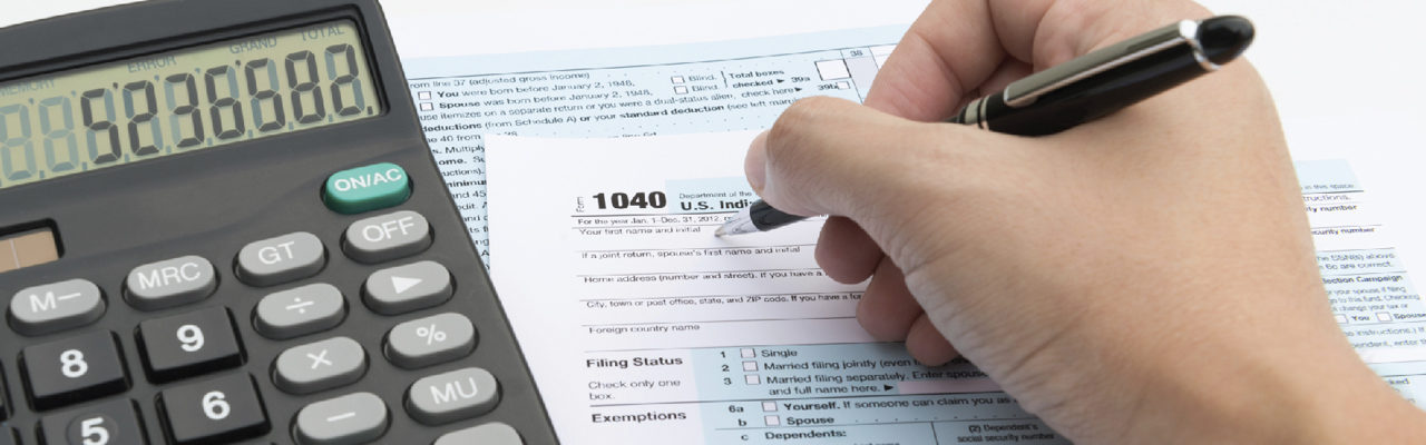 Tax preparation with calculator