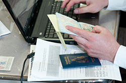 processing papers with passports