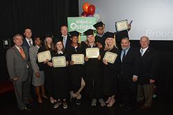 Graduates at Graduation day at Ostiguy High School