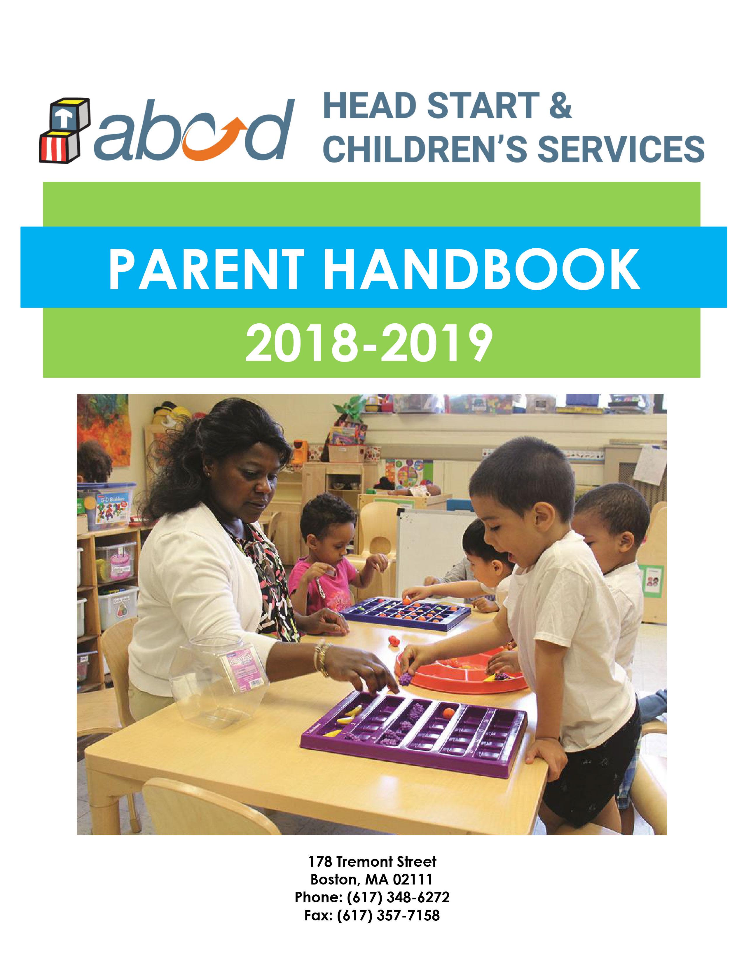 ABCD Heat start and Children Services Parent Handbook 2018-2019